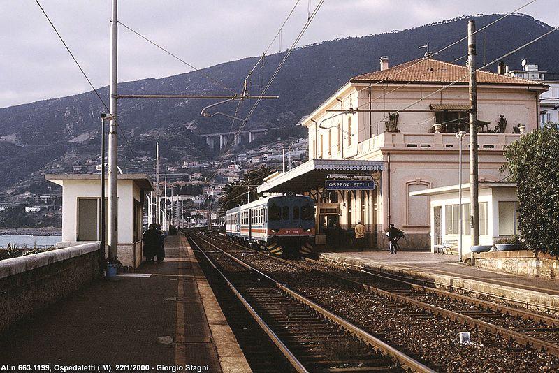 Stazione Ospedaletti vecchia ferrovia san lorenzo ospedaletti pista ciclabile