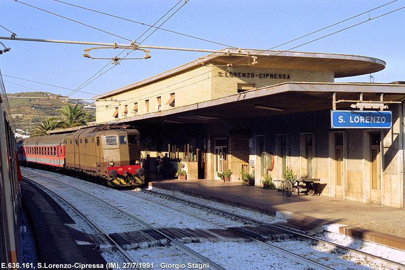 Stazione San Lorenzo vecchia ferrovia san lorenzo ospedaletti pista ciclabile