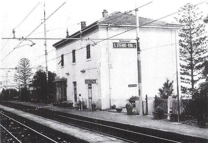 Stazione Santo Stefano epoca vecchia ferrovia san lorenzo ospedaletti pista ciclabile